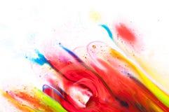 Flüssige Farbe Stockfoto