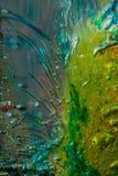 Flüssige Farbe des abstrakten Hintergrundes über Eis Lizenzfreies Stockfoto