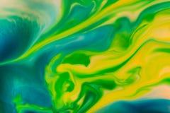 Flüssige Farbe des abstrakten Hintergrundes durch Milch Stockbilder
