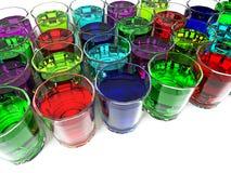 Flüssige Gläser stockfotos