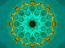 Flüssige grüne Mandala Lizenzfreies Stockfoto