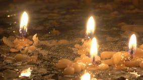 Flüssige Kerzen stock video footage