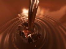 Flüssige Schokolade stock abbildung