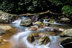 Flüssige Ströme, lange Belichtung Stockfotografie