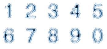 Flüssige Zahlen Lizenzfreie Stockfotografie
