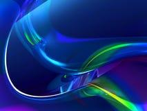 Flüssiger blauer Auszug Lizenzfreies Stockbild