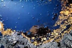 Flüssiger blauer Hintergrund Lizenzfreie Stockbilder
