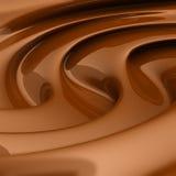 Flüssiger brauner Schokoladenstrudel Lizenzfreie Stockbilder