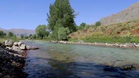 Flüssiger Fluss, Munzur Tunceli stock video