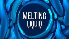 Flüssiger Hintergrund-Vektor Modische Steigungen Flüssige Tropfen der Steigungs-3D Pigment-Illustration stock abbildung