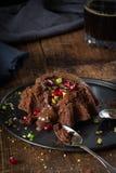 Flüssiger Kuchen der Schokolade Stockbilder