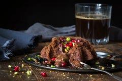 Flüssiger Kuchen der Schokolade Lizenzfreie Stockfotografie