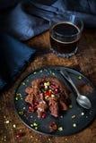 Flüssiger Kuchen der Schokolade Lizenzfreie Stockbilder