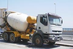 Flüssiger Lastwagen Tankwagen Treibstofftanker Lizenzfreies Stockbild
