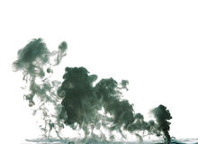 Flüssiger Rauch gebildet durch Milch Stockfotografie