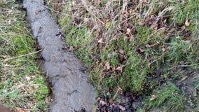 Flüssiger Strom über Boden stockfotos