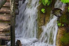 Flüssiger Wasserfall Stockbild