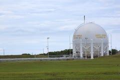 Flüssiger Wasserstoff-Sammelbehälter stockfotografie