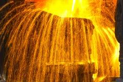 Flüssiges Eisen lizenzfreies stockfoto