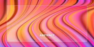 Flüssiges Farbhintergrunddesign Futuristischer Designposter vektor abbildung