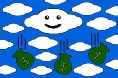 Flüssiges Geld Lizenzfreie Stockfotos