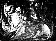 Flüssiges gemarmortes Schwarzweiss-Muster Einfarbiger Hintergrund Stockbilder