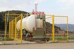 Flüssiggasstation stockfotos