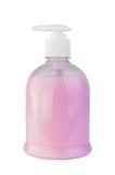 Flüssigseife in der Flasche mit einer Zufuhr Lizenzfreies Stockbild