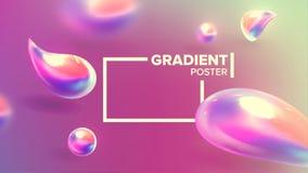 Fl?ssiger fl?ssiger abstrakter Hintergrund-Vektor Kurvenverlauf-Minimalismus Dekoration glatt Unscharfer Druck 3D realistisch lizenzfreie abbildung