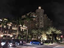 FL - West Palm Beach: Downtown at night stock images