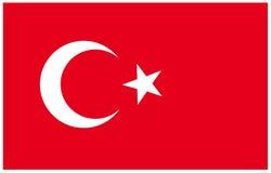 Fla της Τουρκίας Στοκ εικόνα με δικαίωμα ελεύθερης χρήσης