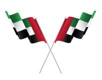 Fla degli Emirati Arabi Uniti, spirito dell'unione - illustrazione Immagini Stock Libere da Diritti