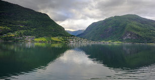Flaam and the hills Royalty Free Stock Images