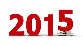 2014-2015 flach gedrückt Lizenzfreie Stockbilder