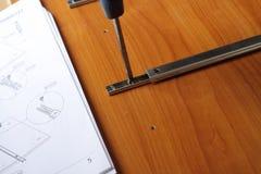 Flach-packen Sie Möbel Lizenzfreie Stockfotos