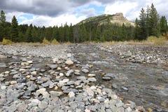 Flach und Rocky Creek Stockfotos