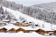 flachau手段滑雪 免版税库存照片