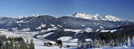 flachau手段滑雪 免版税图库摄影