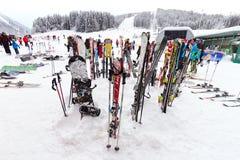 Flachau skiing Royalty Free Stock Images