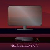 Flachbildschirm Fernsehen Lizenzfreies Stockbild