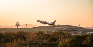 Flache Abreise Ryanairs stockbild