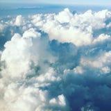 Flache Ansicht von Wolken Stockfotos