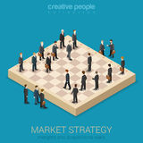 Flache Art 3d der Firmenkundengeschäftmarktstrategie isometrisch Stockfoto