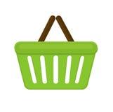 Flache Art der Einkaufskorb-Ikone Auf weißem Hintergrund beutel Auch im corel abgehobenen Betrag Stockbild