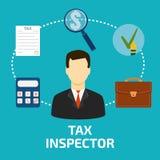 Flache Art der Steuerinspektor-Ikone lizenzfreie abbildung