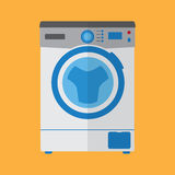Flache Art der Waschmaschine stockfotografie