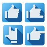 Flache Art des gleichen Knopfes für Social Networking Stockbilder