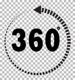 Flache Art 360 Grad Zeichen  lizenzfreie abbildung