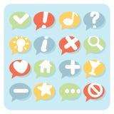 Flache Art-Navigations-Ikonen-Sprache-Blasen Stockfoto