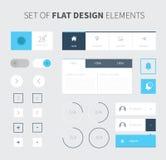 Flache Ausrüstung ui Design des Vektors für webdesign Stockbilder